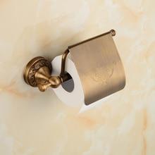 SRJ Copper Rustproof Toilet Paper Holder Round Bottom Roll Storage Tool Kitchen Bathroom Towel