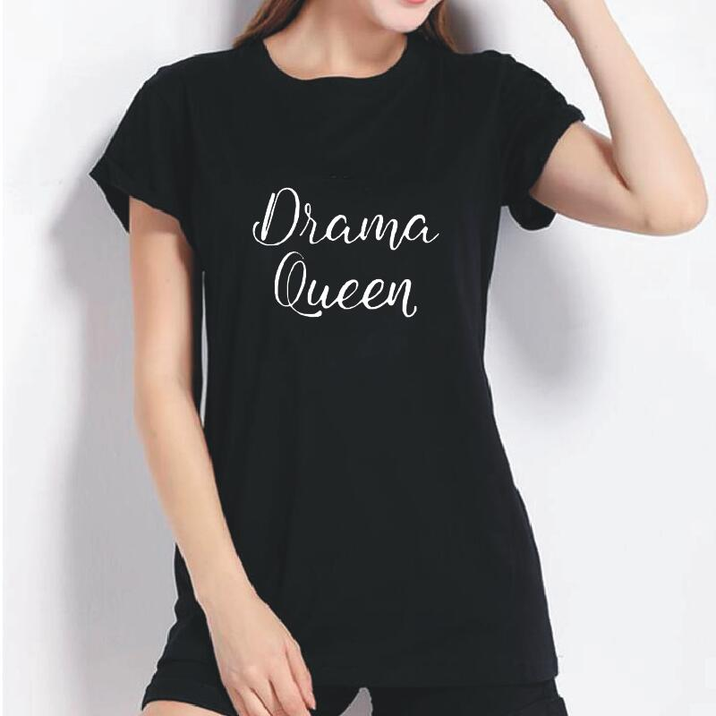 2019 New Arrivals Fashion Brand Street T Shirt Fashion Drama Queen Print T-Shirts Women T Shirts Short Sleeve Summer Tops Tees image