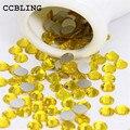 CCBLING Crystal Citrine ss3-ss30 bag Nail Rhinestones Flat Back Non Hotfix Glitter Nail Stones,DIY 3d Nail Phones Decorations
