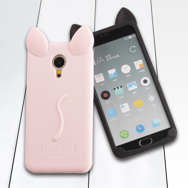 Girls Cat Ear Phone Case Cover for Meizu M1 M2 M3 MX4 MX6 Pro 5 Note 4 mini Xiaomi Xaomi Redmi note 4 3 pro 3pro mi5 MI 5 Cases