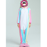 Abbille 2017 HOT NEW Wholesale Rainbow Unicorn Onesie Adult Unisex Cosplay Clothing Pajamas Sleepwear For Men