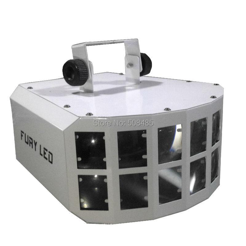 Бесплатная доставка привело Сценический Эффект луча свет 2X10 Вт RGBW 4in1 бабочка луч света ce двойная линия Стекло объектива висит уплотнительн...