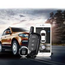 Auto Remote Start Sheriff Keyless Entry Car Alarm Offline PKE Smartphone APP PKE Start Stop Button Central Locking MP900 high security pke car alarm kit remote engine start auto central locking push button start stop and touch password entry