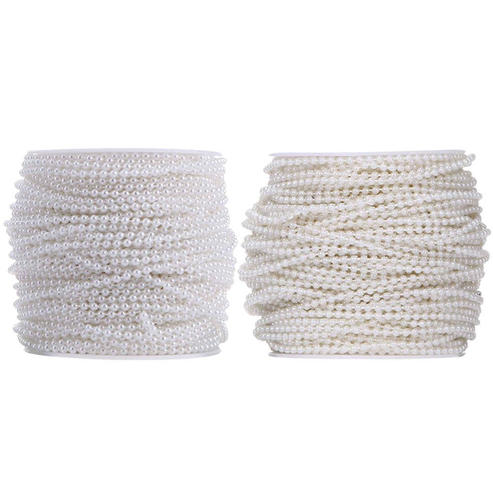 Online Shop 10 Meters 3mm Pearl Beads Cotton Line Chain Pearls ...