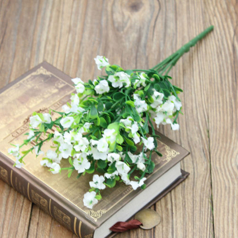 white color artificial gypsophila babys breath fake silk flower home party wedding decorchina