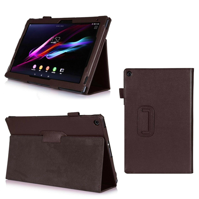 For sony xperia z2 tablet case Folio PU Leather Cover for sony xperia tablet z 2 z2 10.1 inch with stand Tablet High quality!