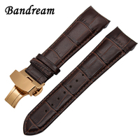Italy Genuine Leather Watchband for Tissot Couturier T035 Watch Band Steel Butterfly Buckle Strap Wrist Bracelet 22mm 23mm 24mm