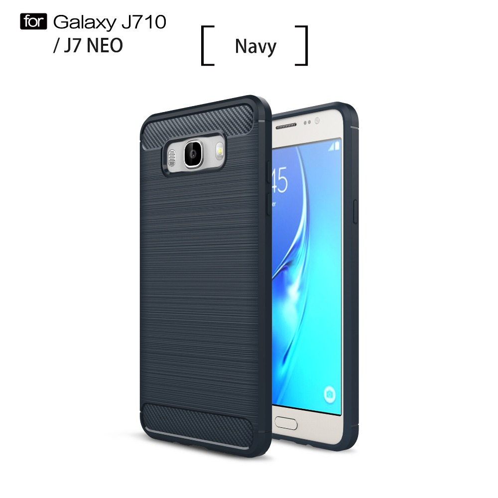Shockproof Carbon Fiber Soft Brush Tpu Textured Hybrid Cover For Goospery Samsung Galaxy Core 2 Canvas Diary Case Navy J7 Neo Nxt In Fitted Cases From Cellphones Telecommunications