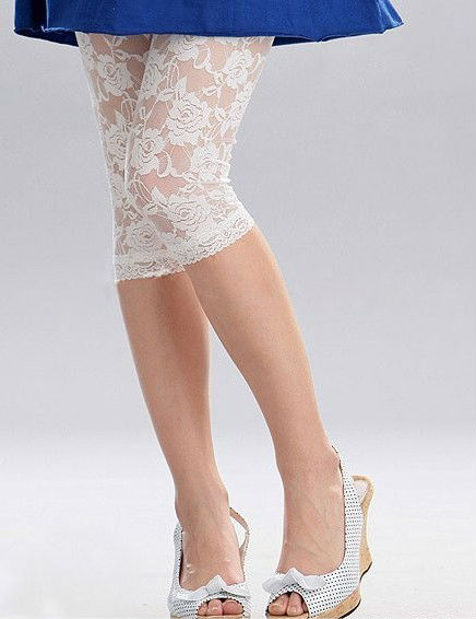 Sexy leggings voor vrouwen Vintage Lace leggings rose bloem leggings broek broek WADL 13
