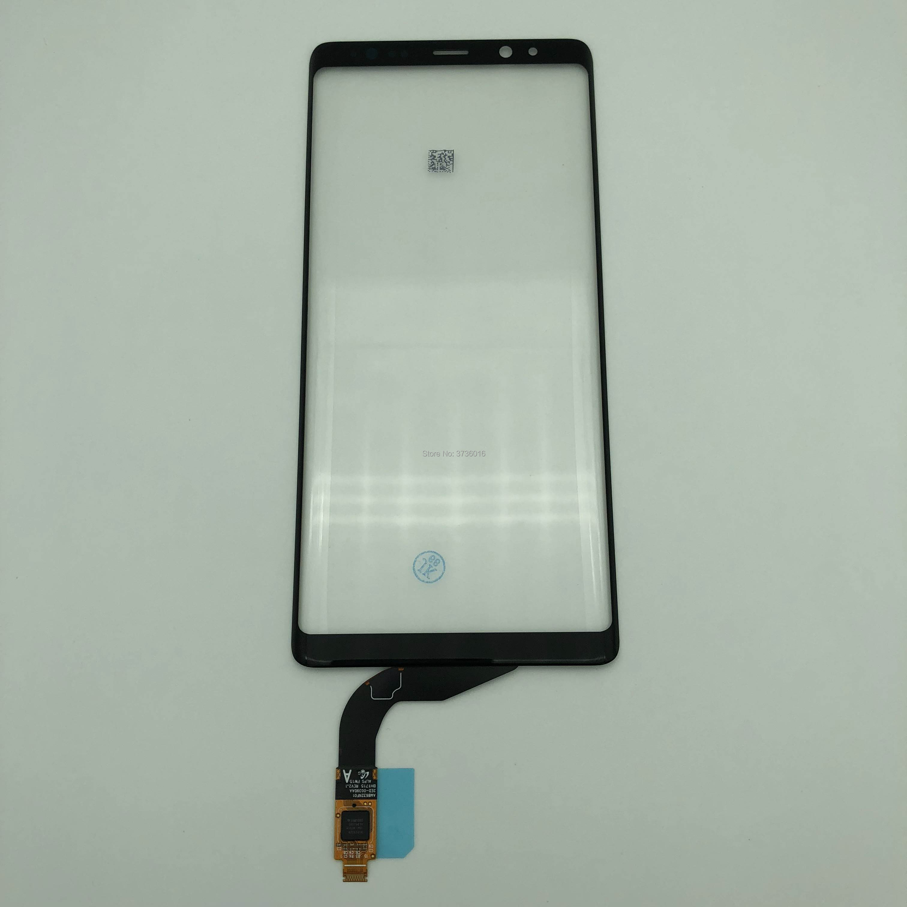 Digitizer Front Glass with touch For phone Note 8 damaged LCD touch screen front panel with flex cable replacement repair