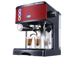 GEMILAI CRM3601 coffee machine home Italian semi-automatic 15bar pump steam type red esspress milk foamo cafe stainless steel