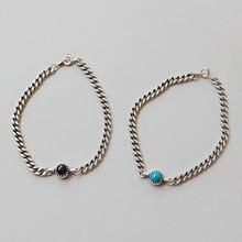 Женский винтажный браслет на цепочке из 100% серебра 925 пробы
