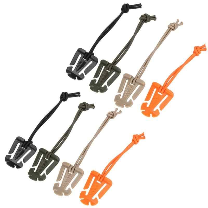 EDC Gear 2 unids/lote Molle mochila mosquetón EDC herramienta elástica cuerda Correa hebilla bobinadora