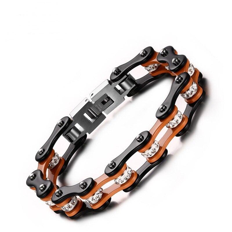 Bracelet homme acier inoxydable chaîne bracelet vélo bijoux fantaisie S196