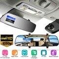 2,7 дюймов Full HD 1080P lcd Автомобильная камера, видеорегистратор, зеркало заднего вида, Автомобильный видеорегистратор, видеокамера ночного виде...