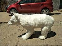 Огромные моделирования Polar Bear Модель полиэтилена и меха Белый медведь кукла подарок около 100x34x58 см 2545