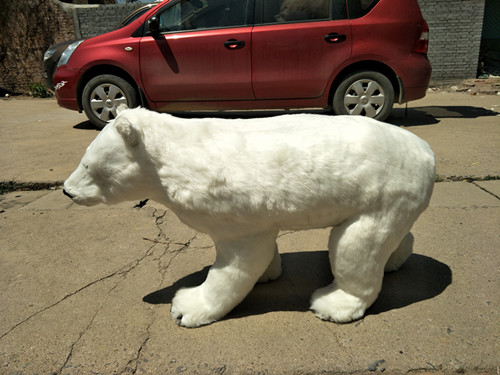 huge simulation polar bear model polyethylene & furs white bear doll gift about 100x34x58cm 2545 big cute simulation polar bear toy handicraft lovely white polar bear doll gift about 31x18cm