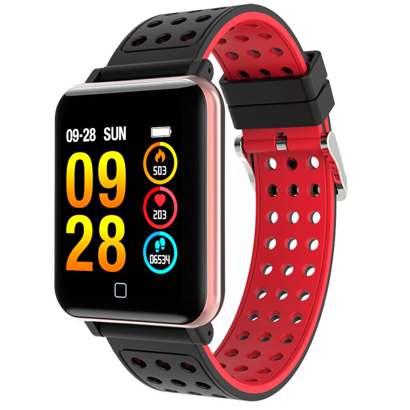 M19 สมาร์ทนาฬิกาผู้ชายฟิตเนสสายรัดข้อมือ Heart Rate เครื่องวัดความดันโลหิต Smartwatch กันน้ำสำหรับ IOS Xiaomi-ใน นาฬิกาข้อมือดิจิตอล จาก นาฬิกาข้อมือ บน AliExpress - 11.11_สิบเอ็ด สิบเอ็ดวันคนโสด 1