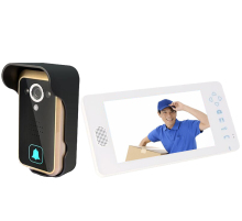 Wireless Video Door Phone Intercom PIR Sensor Night Vision Camera wide angle 7 inch TFT LCD