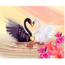 Diy full diamond painting embroidery kits crystal rhinestone picture bedroom diamond mosaic swan love gift craft wedding Decor