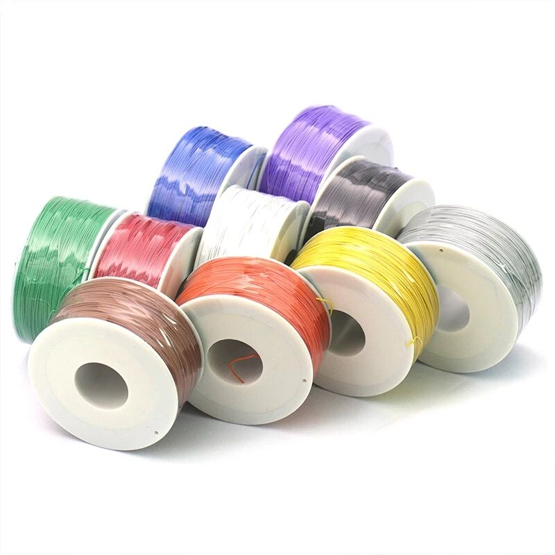 250meter 820FT single conductor 30AWG 0.5mm PCB flying jumper wire OK line Wrapping Wrap Flexible insulation tin-plated 250meter золоева л пер с итал 8 большая книга вопросов и ответов