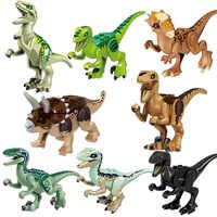 8 teile/satz Jurassic Dinosaurier Bausteine Dinosaurier Zahlen Bricks Tyrannosaurus Klassische Spielzeug Legoings Jurassic Welt 2 Modell
