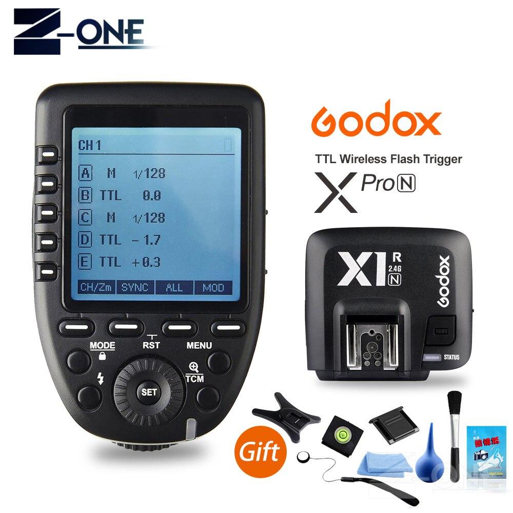 Godox Xpro-N I-TTL II 2.4G X System Wireless Control Remote Trigger With X1R-N Controller Receiver Compatble For Nikon Flash