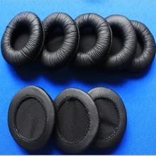 Linhuipad 50Pcs 25pairs 60mm Soft Leather Ear Cushions Earpads Sponge headphone Pads Durable Earbud Earpads forSHM7110 H6000