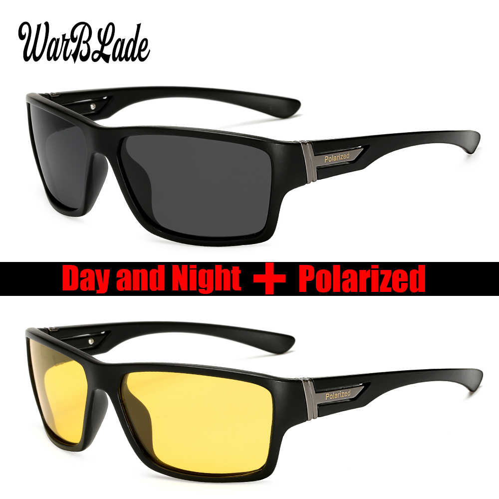 WarBLade 2018 Men Night Vision Sunglasses UV400 Protection Night Driving Glasses Male HD Polarized Yellow Lens Sun Glasses W1821