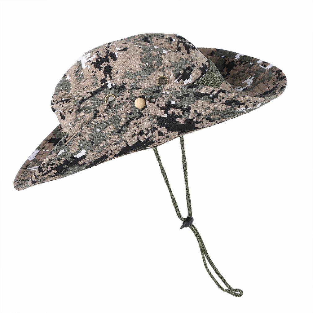 Militärhüte New Sale Fashion Unisex Eimer Hut Frauen Männer Gorra Boonie Hut Angeln Wide Military Cap Sun Casual Militärhut
