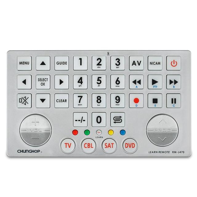 Universal Smart Remote Control Controller With Learn Function For TV CBL DVD SAT chunghop learning RM-L470 big key copy