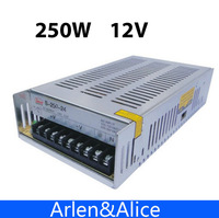 250W 12V Single Output Switching Power Supply For LED Strip Light AC To DC