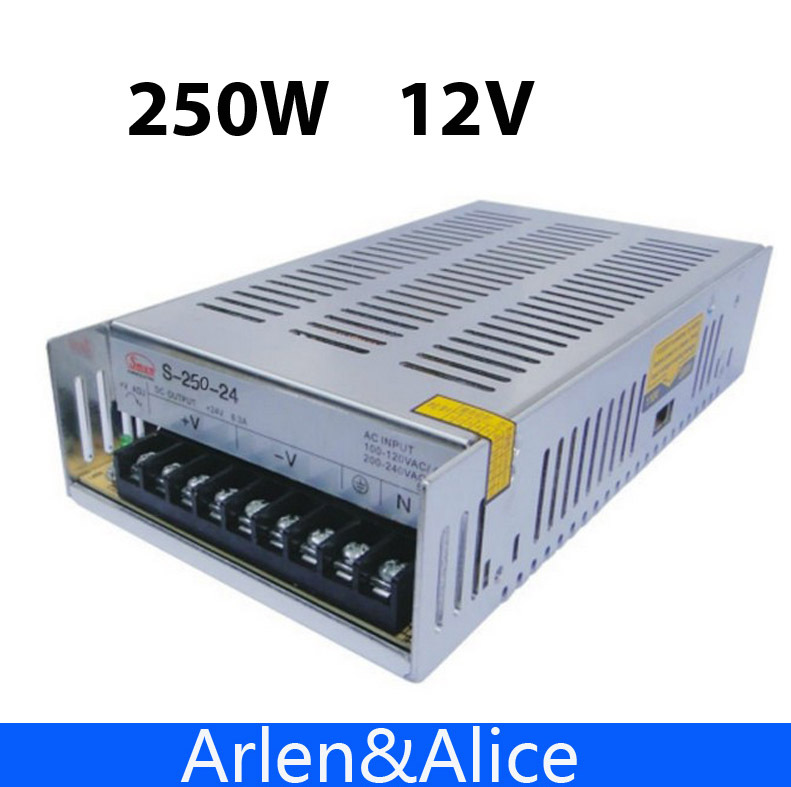 250W 12V 20A Single Output Switching power supply  AC to DC meanwell 12v 350w ul certificated nes series switching power supply 85 264v ac to 12v dc