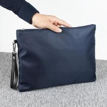 New Style Nylon Zipper Purse Man Card Holder Phone Pocket Le
