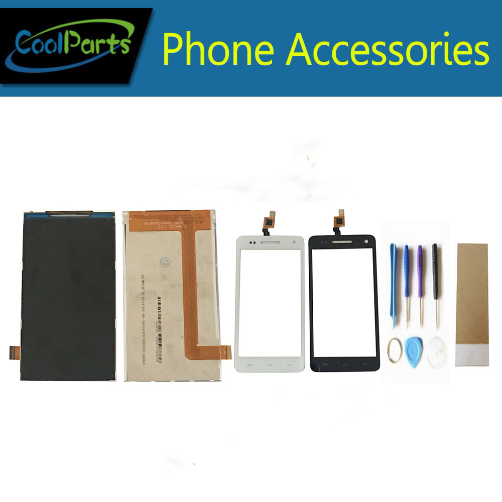 1PC/Lot High Quality For Explay Fresh LCD Display Screen+ Touch Screen Digitizer With Tool&Tape Replacement Part