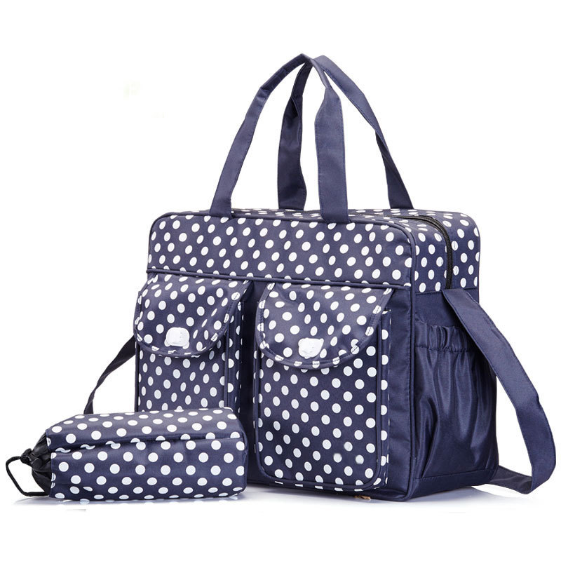 Us 25 99 Polka Dot Diaper Bag Large Ny Bags Stylish Tote Baby Waterproof Nursing In From Mother Kids On Aliexpress