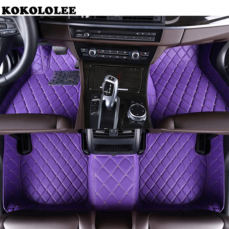 KOKOLOLEE Custom car floor mats for Jaguar All Models XF XE XJ F-PACE F-TYPE brand firm soft auto accessories car styling car believe auto car floor foot mat for jaguar xf xj f pace xjl f type xk xfl xel car accessories waterproof styling