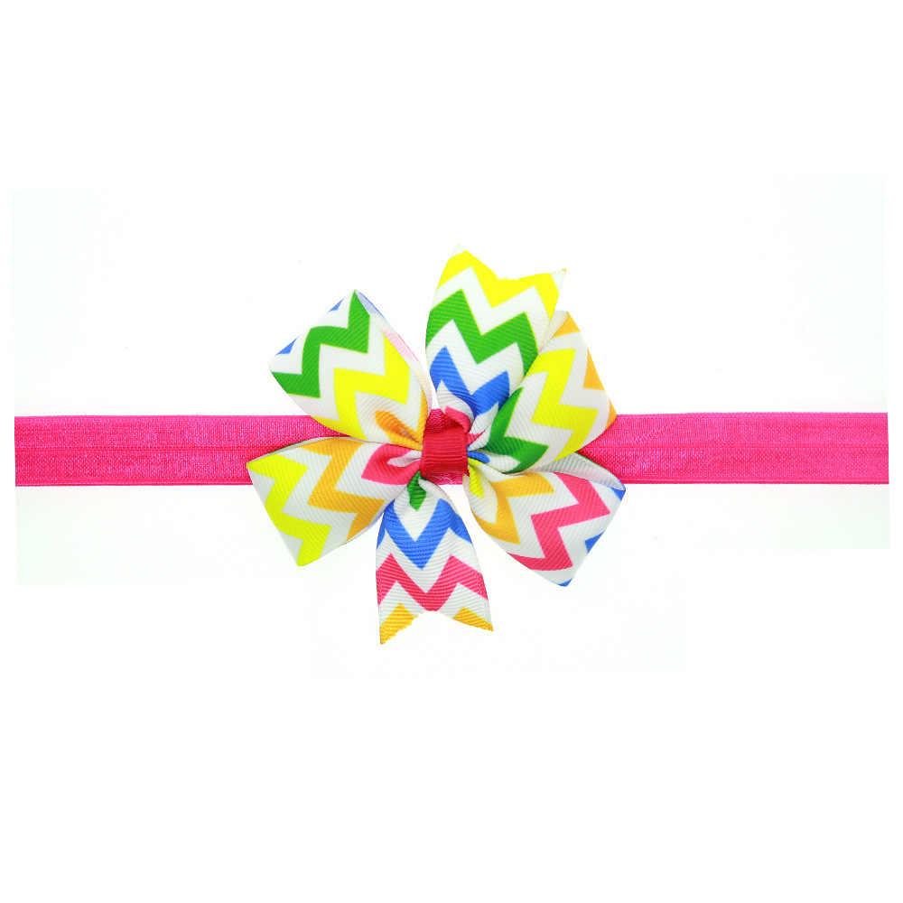 เด็กทารกแถบคาดศีรษะทารกลายอุปกรณ์เสริมผมผ้าแถบ bows ทารกแรกเกิด tiara headwrap ของขวัญเด็กวัยหัดเดินผ้าพันคอริบบิ้น Headwear
