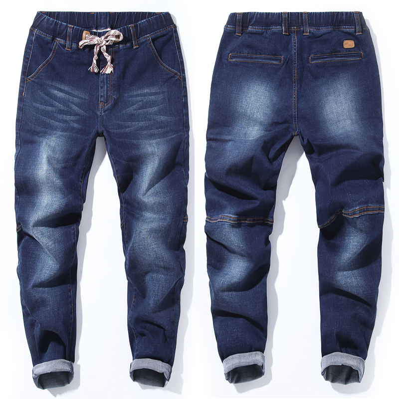 Image 2 - 2018 סתיו חדש של גברים בתוספת גודל ג ינס אופנה מזדמן היפ הופ רופף שחור כחול מכנסיים הרמון מכנסיים 5XL 6XL 7XL-בגינס מתוך ביגוד לגברים באתר
