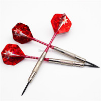 Free Shipping 3pcs 1set Of Nickel Plated Steel Tip 22 Grams Darts With Red Aluminium Shafts