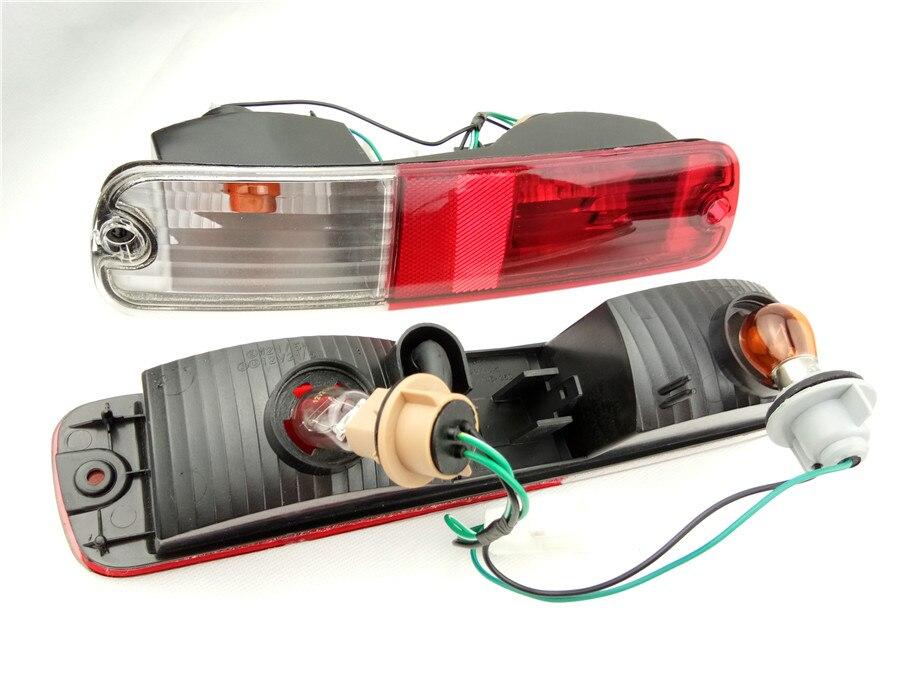 Пара задние противотуманные фары, сзади отражатель для 2003-2007 Mitsubishi Pajero V73 заднего бампера лампы V75 V77 Montero V73
