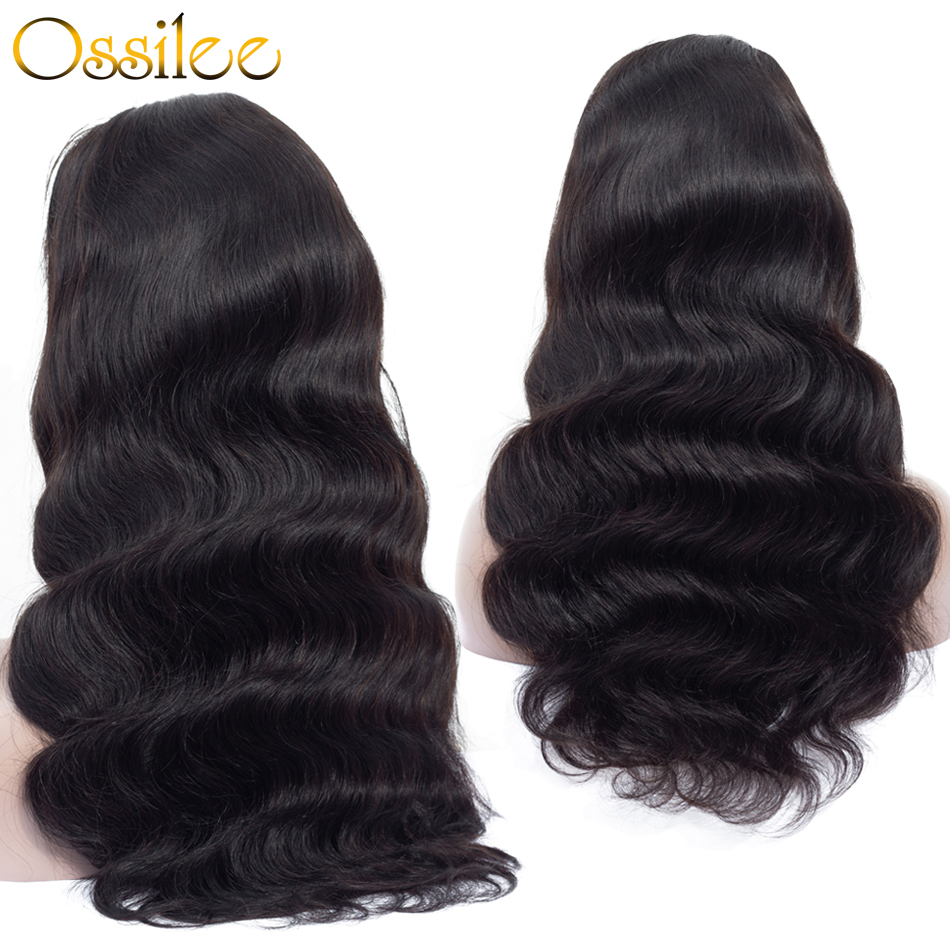 Lace Front Wig Body Wave 360 Lace Frontal Wig Human Hair Wigs Lace Front Wigs Pre Plucked with Baby Hair Ossilee Remy Hair