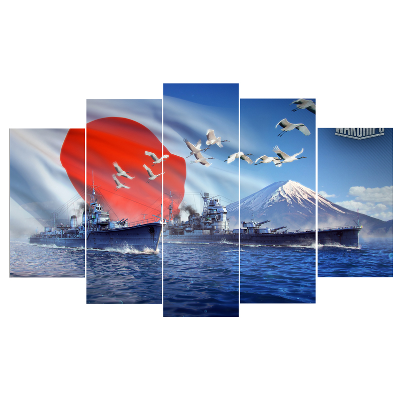 Poster Wall Picture Home Decor Print On Canvas 5 Panel World Of ...