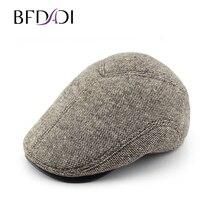 BFDADI2018 Baru Pria Baret Topi Datar Driver Retro Vintage Lembut Baker  Tukang Koran Topi Topi Besar Ukuran 60 Cm Gratis pengiri. fead700f87