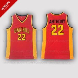 No. 22 Retro Mens Carmelo Anthony Basketball Jerseys Oak Hill High School  Throwback abbb6ae74