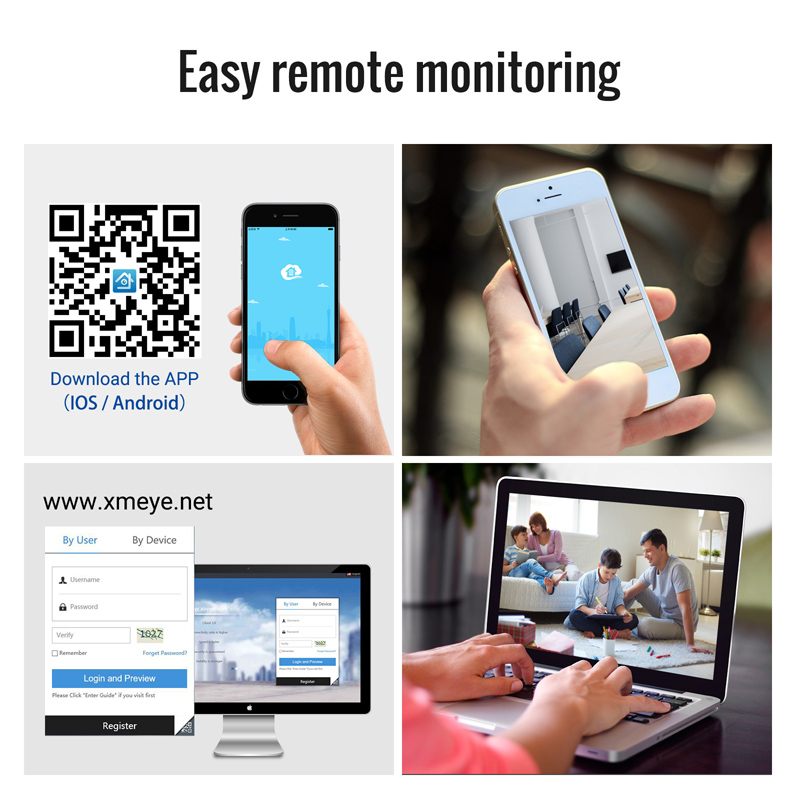 Image 5 - H.View 16CH Surveillance System 4 1080P Outdoor Security Camera 16CH CCTV DVR Kit Video Surveillance iPhone Android Remote View-in Surveillance System from Security & Protection