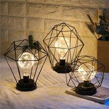Винтажный мини кованый литий-ионный аккумулятор ночные светильники часы на цепочке лампа украшение спальни
