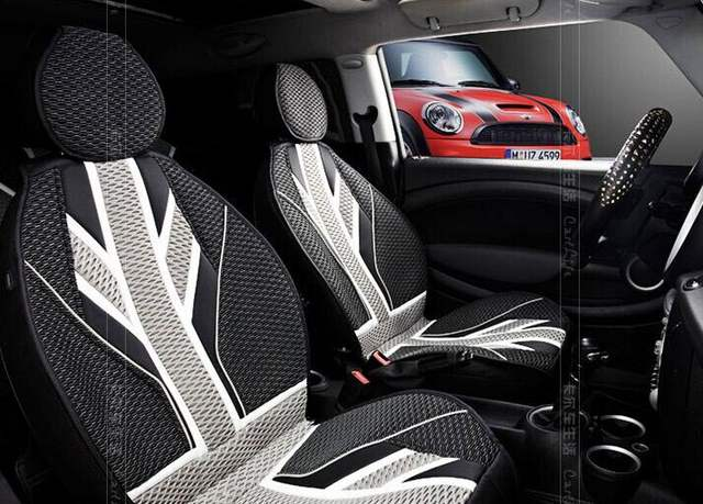 Mini Cooper Interior >> Us 270 4 20 Off Grey Union Jack Summer Car Seat Covers For Mini Cooper Interior Accessories In Automobiles Seat Covers From Automobiles