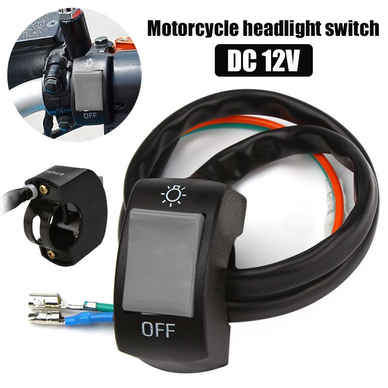 Огни выключены Универсальные мотоциклы переключатель противотуманных фар рычаг управления мотоциклом прочный точечный свет