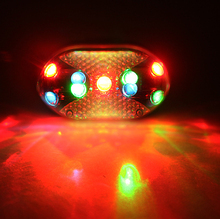 The new bicycle taillights 9 dazzle colour led tail lights Warning lights Mountain bike riding and equipment